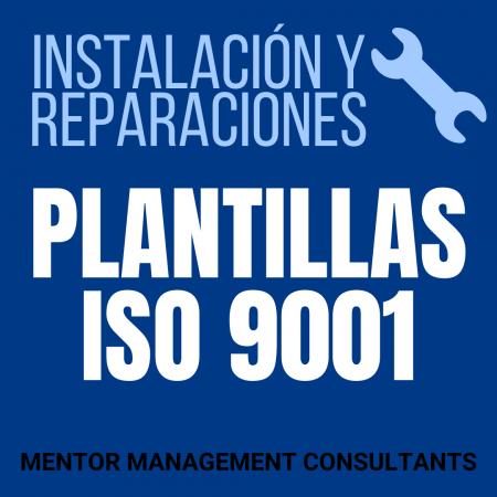 Instalación y reparaciones - Plantillas ISO 9001 - Mentor Management Consultants
